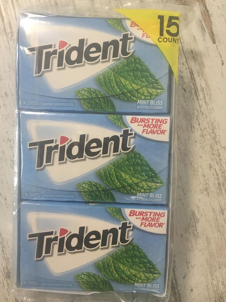 Блок жвачек Trident Sweet Mint Bliss Мятное блаженство, 210 жвачек