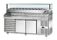 Охлаждающий стол для пиццы  POS208SN#AGS204L GGM