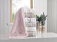 Набор банных трикотажных полотенец 70х140 Pupilla Eva 3D,вышивка