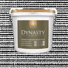 Шелковисто-матовая интерьерная краска Kolorit Dynasty белая 9 л