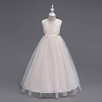 Нарядное Платье    для девочки   шампань 116-122, фото 1