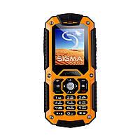 "Sigma Мобильный телефон mobile X-treme IT67 Dual Sim Black-Orange (4827798283219); 2"" (220x176) TN / клавиатурный моноблок / MediaTek MT6261D /"