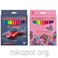 """Фломастеры """"С"""" """"Картон"""" CR950-12 12 цветов"""
