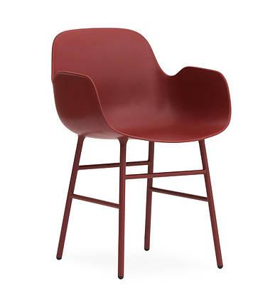 Кресло-Формы стальные ноги красный, фото 2