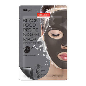 Гидрогелевая маска для лица PUREDERM Black Food Recipe MG:gel Mask