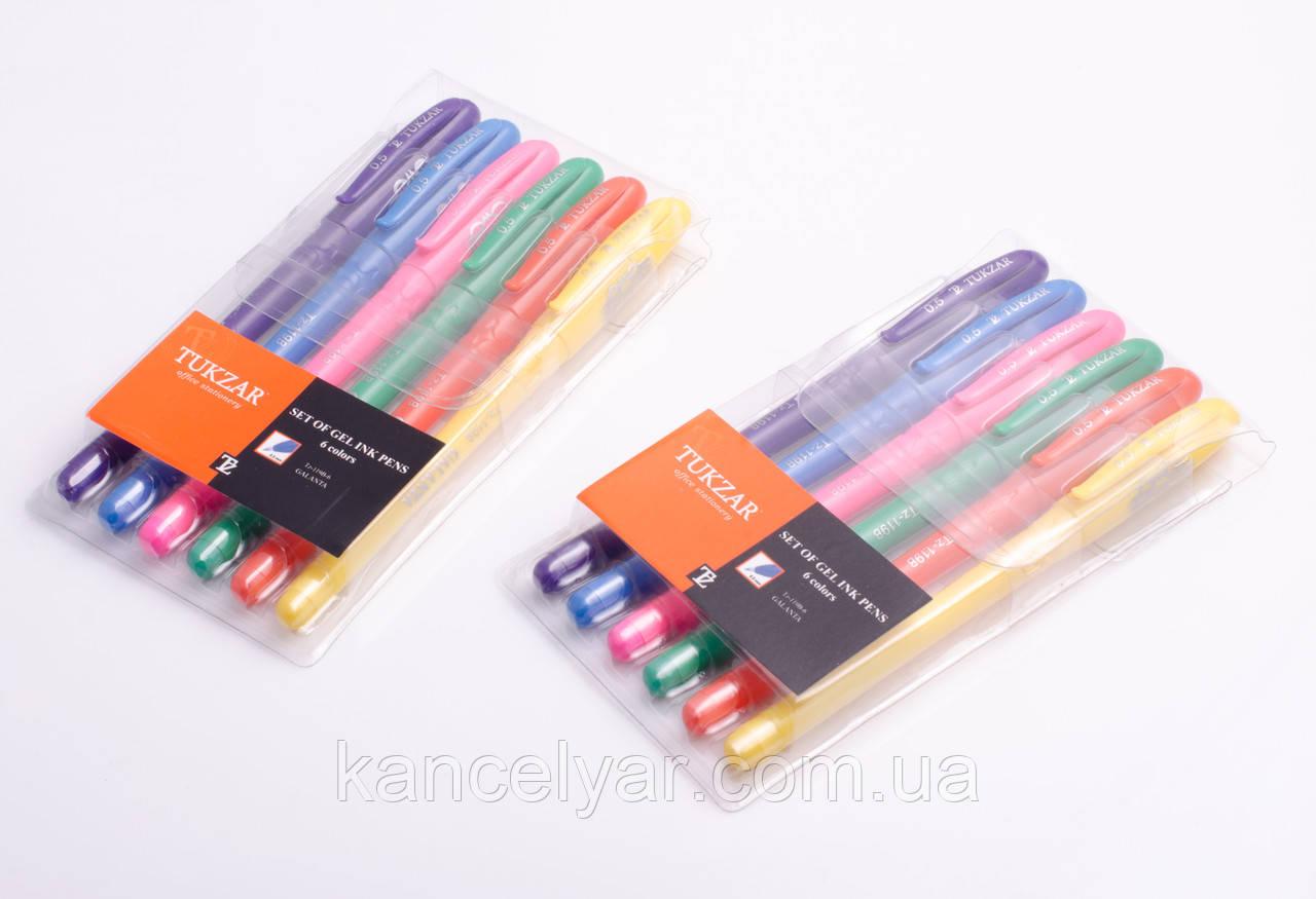 Набір ручок гелевих, неонових, 6 кольорів