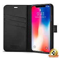 Книжка-Чехол Spigen для iPhone X Wallet S, Black , фото 1