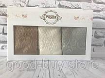 Подарочный набор кухонных полотенец  Pupilla, велюр 3шт. №5108