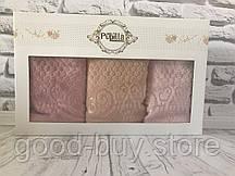 Подарочный набор кухонных полотенец  Pupilla, велюр 3шт. №5109