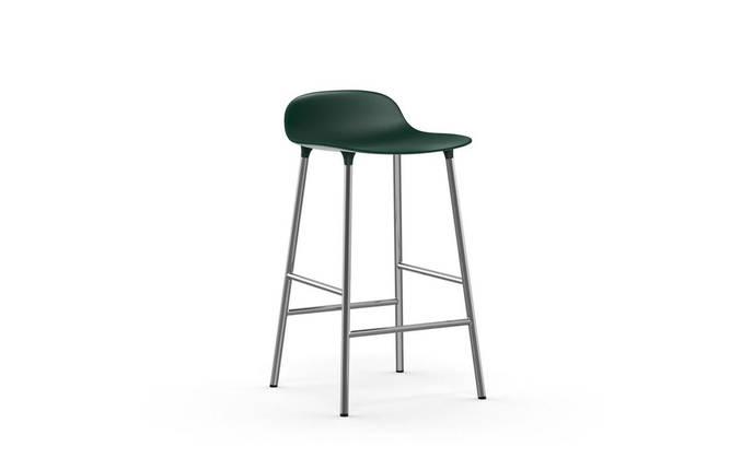 Барный Табурет Форм 65 см, ноги хром зеленый, фото 2