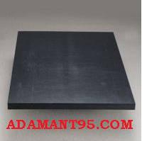 Капролон (полиамид PA6) лист, графитонаполненный, 25х1000х2000 мм.
