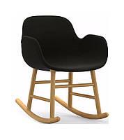 Кресло-качалка Форм подбитый древесина дуба материал Fame