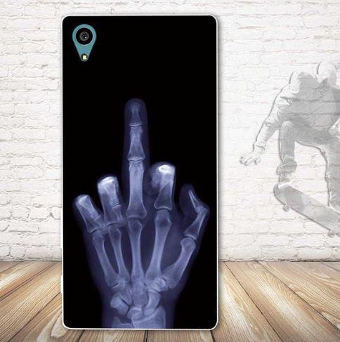 Оригинальный чехол накладка для Sony Xperia Z5 E6633 с картинкой Рентген