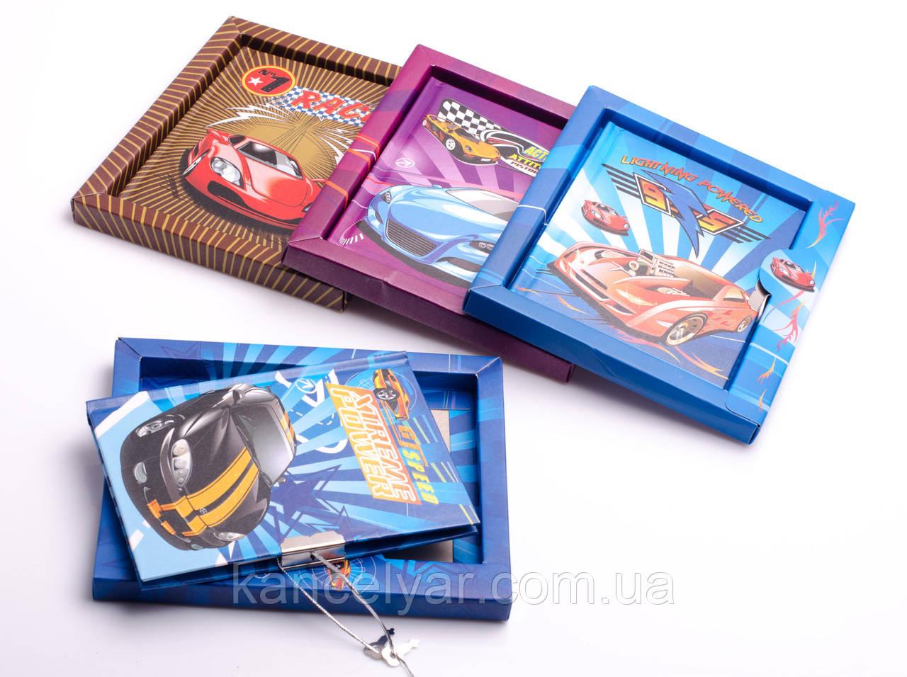 Блокнот дитячий на коробці на замочку, 96 аркушів, 15х18 см, в асортименті