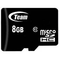Карта памяти Team 8GB microSDHC Class10 (TUSDH8GCL1002), фото 1