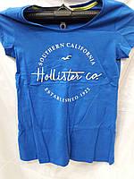 Футболка женская брендовая HOLLISTER синяя
