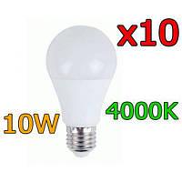 Распространенная светодиодная LED лампа LB-710 E27 10W 4000K 10 шт. Хорошее качество. Доступно. Код: КГ3000