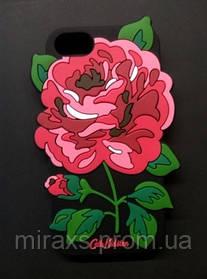 Плотный резиновый чехол для iPhone 6/6s. Роза