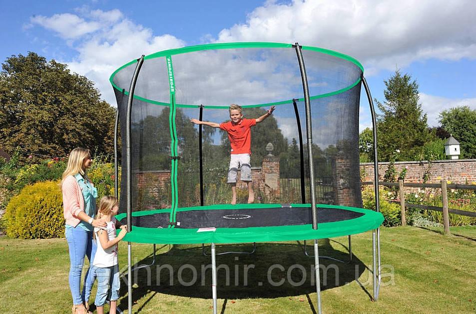 Батут Sportspower 12 ft Galvanised Trampoline with Enclosure - Green.