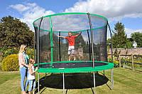 Батут Sportspower 12 ft Galvanised Trampoline with Enclosure - Green., фото 1
