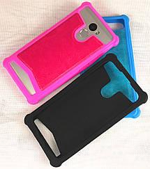 Силиконовый чехол с кожаной накладкой для Motorola G4