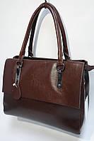 Женская сумка с кожаными ручками DL410 brown