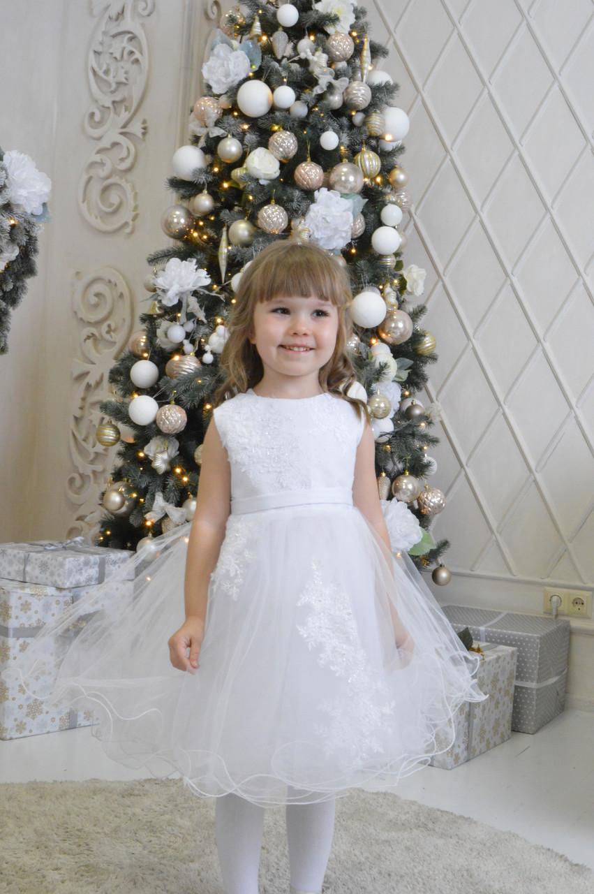 757d23426203d17 Белое платье детское. Прокат/аренда Киев, цена 150 грн., заказать в ...