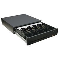Денежный ящик Posiflex CR-4100 (черный) корпус с усиленной металлической конструкцией