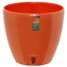 Вазон дренажный для цветов Deco Twin Морковный 1.5 л