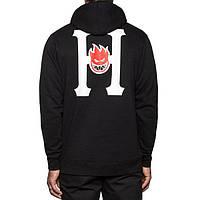 Худи чёрная HUF*Spitfire logo | Толстовка стильная