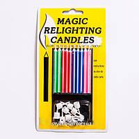 """Свічка для торту """"Магічна"""" (однотонна)"""