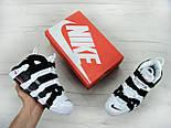 """Кроссовки Nike Air More Uptempo """"White black"""". Живое фото (Реплика ААА+), фото 7"""
