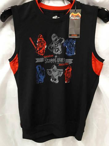 Безрукавка мужская Maraton черная с красным, фото 2