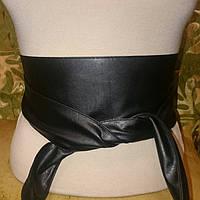 Ремень кушак чёрного цвета