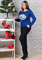 Женские штаны на флисе Ласточка A527-103 4XL. Размер 54