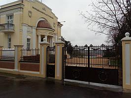 Научный центр виноделия Таирово - реконструкция забора и фасада современным фасадным декором