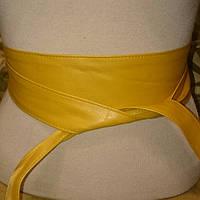 Ремень кушак жёлтого цвета