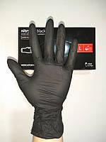 Перчатки нитриловые неопудренные, черные Nitrylex  , L. 100 шт.