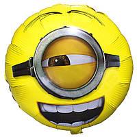 """Фольгированный шар с рисунком Flexmetal Круг 18"""" Миньон Стюарт"""