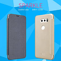 Кожаный чехол (книжка) Nillkin Sparkle Series для LG H930 / H930DS V30 / V30+