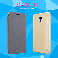 Кожаный чехол (книжка) Nillkin Sparkle Series для Meizu M6