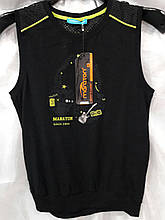 Безрукавка мужская Maraton черная с желтым