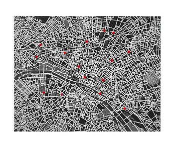 Украшение стены Pin-Сити-Париж, черный