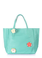 Кожаная сумка POOLPARTY Soho Flower