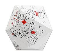 Украшение глобус оригами Here by Me S