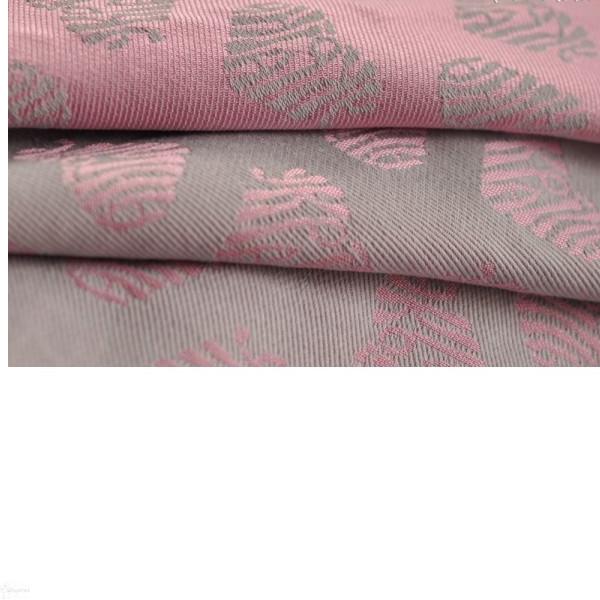 Слинг-шарф YAROSLINGS Yaro Ukrainian Hearts Silver Rose Glossy (40% мерсеризованный хлопок) (4,6 м)