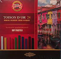 Крейда-пастель суха TOISON D'OR, 24 кол.
