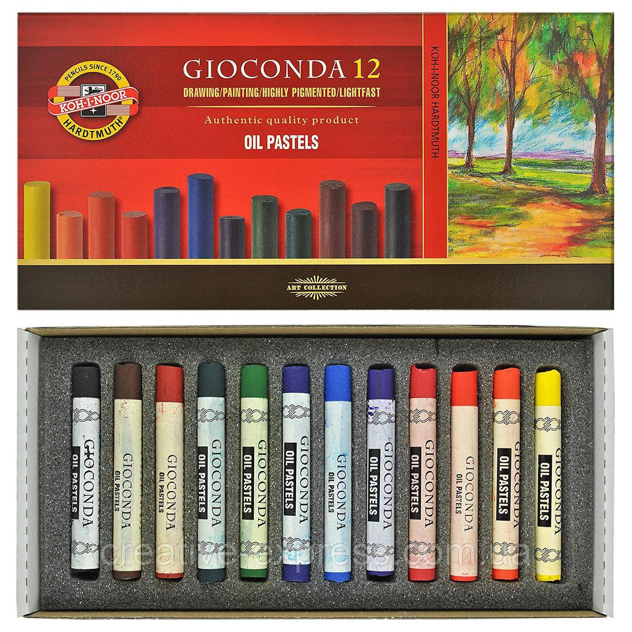 Крейда-пастель олійна художня GIOCONDA, 12 кол.