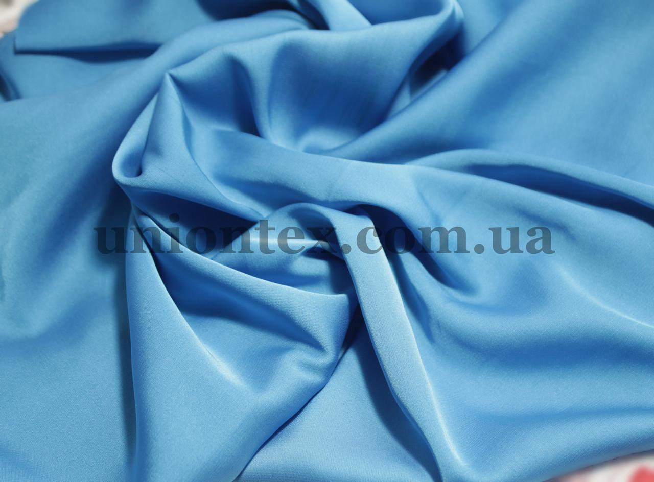 Ткань шелк-армани голубая бирюза
