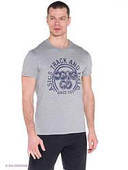 Мужская спортивная футболка Asics серого цвета